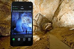 Fee Audioguide App in the Mammut Cave