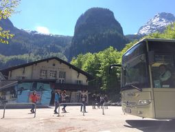 Arrival by bus to Obertraun